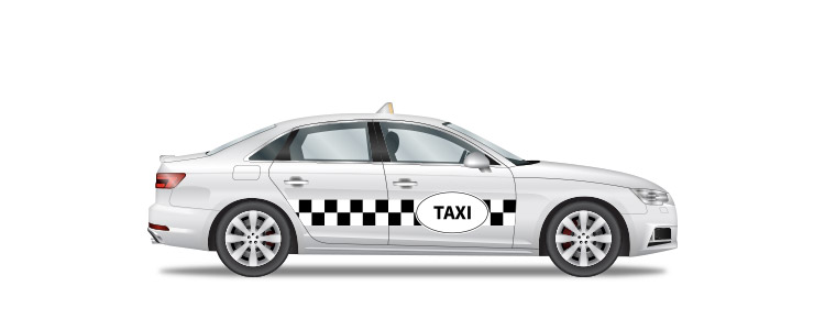 Icon of a private taxi