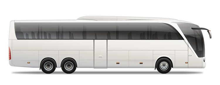Icon of a white private bus