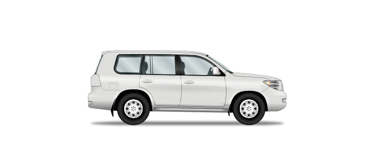 Icon of a white private SUV
