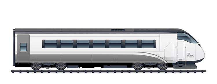 Icon of a white train