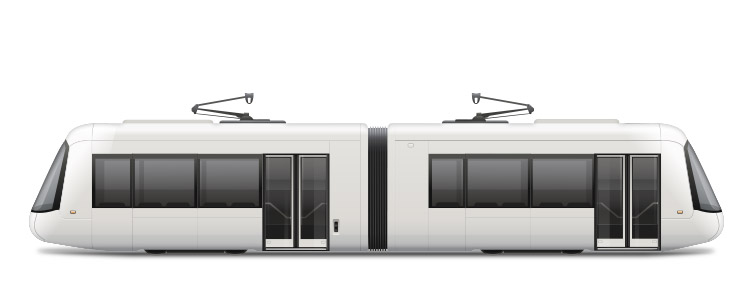Icon of a white tram