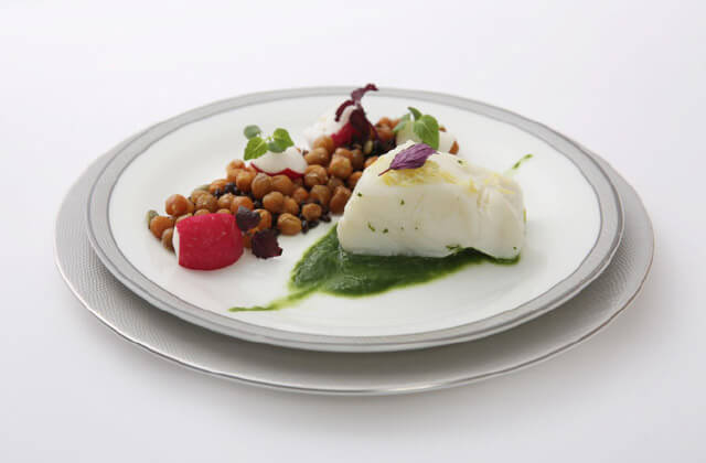Singapore Airlines Sea Bass dish