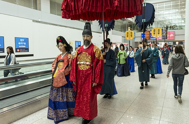 Korean traditional performance at Incheon International Airport