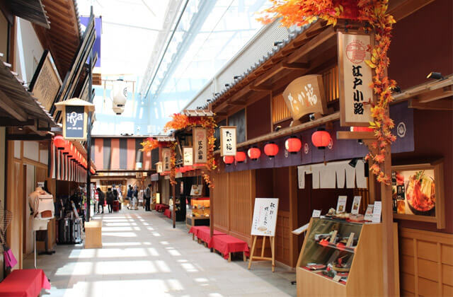 Shopping street in the departure terminal of Haneda International airport in Tokyo, Japan