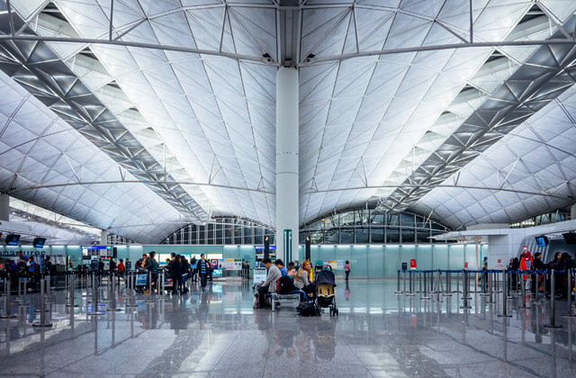 Intérieur de l'aéroport  International d'Hong Kong
