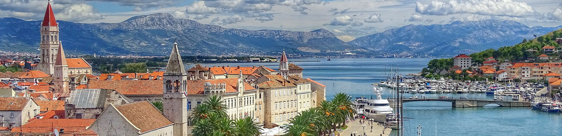 View of the old town of Trogir in Croatia