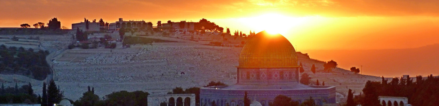 Sunrise over the Dome of the Rock in Jerusalem, Israel