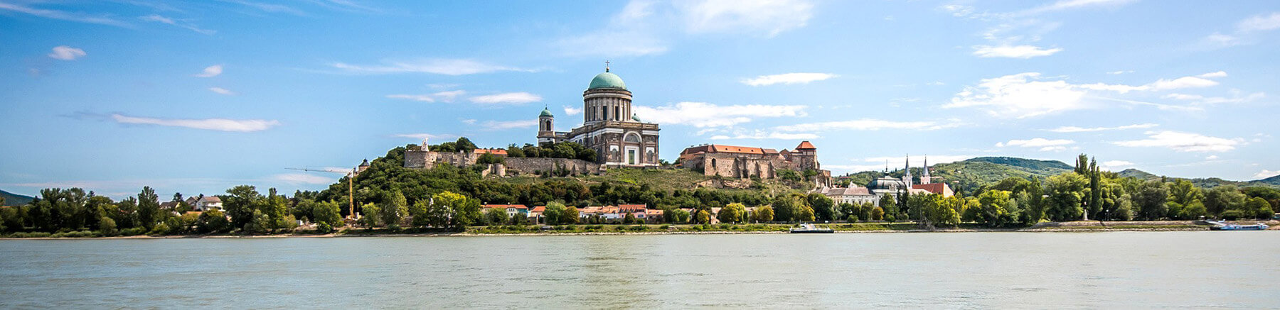 View of Esztergom Basilica from the opposite bank of the Danube