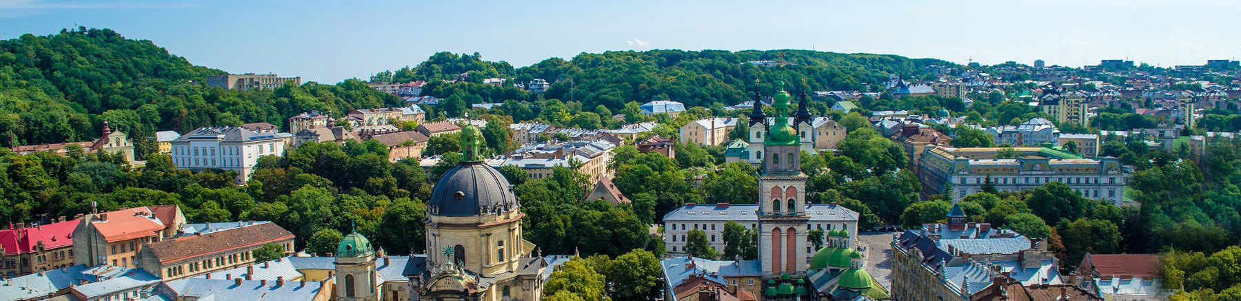 Panoramic view of the city of Lviv in Ukraine