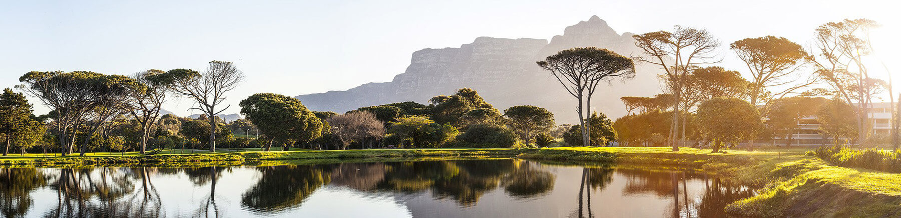 Lake and mountain view in South Africa