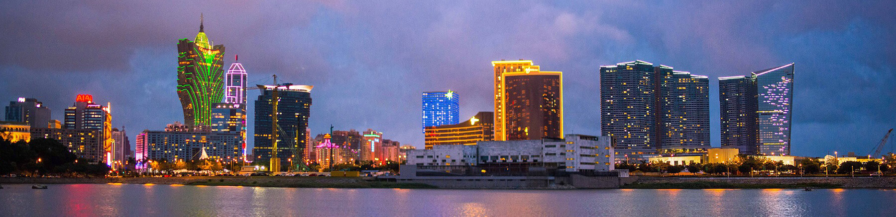 Panoramic view of Macao by night