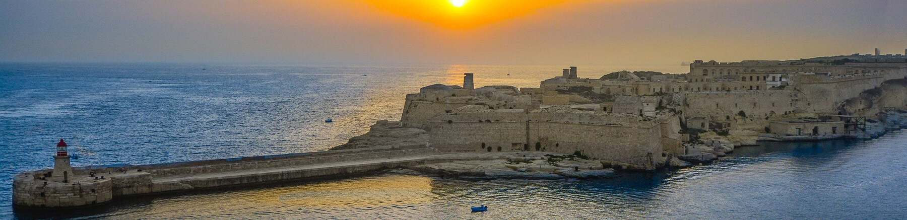 View of a fort in Malta at sunset