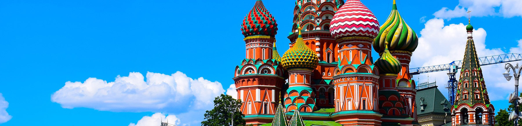 Close view of Saint Basil's Cathedral in Red Square in Moscow, Russia