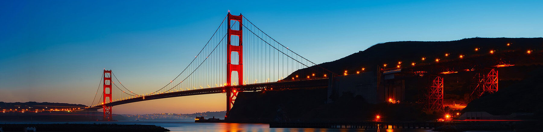 Beautiful view of the Golden Gate bridge in San Francisco, California